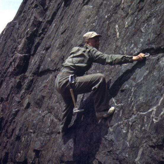 Rock Climbing Photo: Joe Stettner working it. Camp Hale, CO. 1944