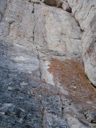 Rock Climbing Photo: Cranium Crack is the crack in the middle of this p...