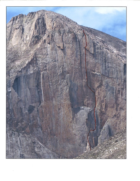 Rock Climbing Photo: Route line.
