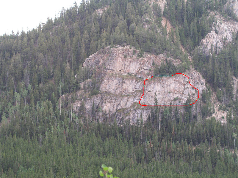 The red outline bounds the zone known as the Two-Three Wall.