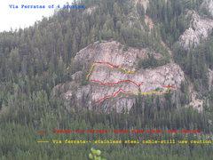 Rock Climbing Photo: The via ferratas of 4 Stories
