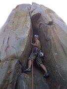 Rock Climbing Photo: Ngoc Tran leading Caradhras
