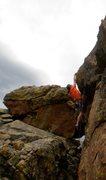 Rock Climbing Photo: Chris Perkins on Kawasaki Hood Ornament.  Photo by...