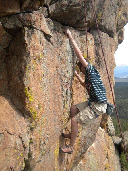Rock Climbing Photo: Ben Lane on YngYngYng.  Photo By Chris Perkins.