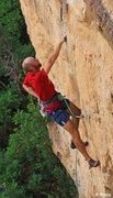 Rock Climbing Photo: A nice pocket after the small crimp start. Raising...