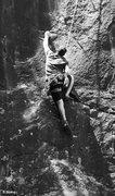 Rock Climbing Photo: Andy Albosta follows the 3rd ascent. Black Magic S...