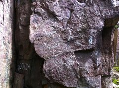 Rock Climbing Photo: start of queens throne