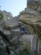 Rock Climbing Photo: Scraping by....