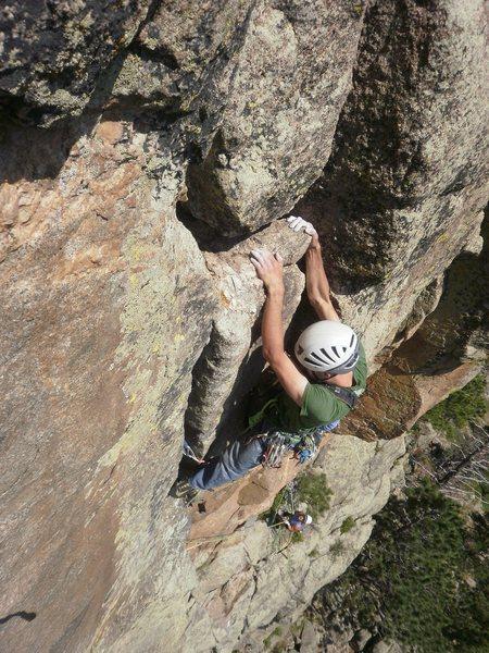 Rock Climbing Photo: Post crux jug!