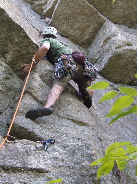 Rock Climbing Photo: Pulling onto the face.
