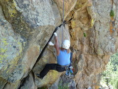 Rock Climbing Photo: CM on the opening moves.