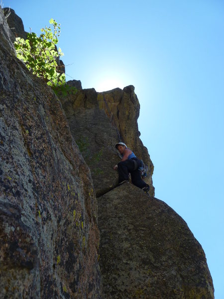 Rock Climbing Photo: On the 5.10 arete section.