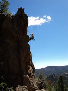 Rock Climbing Photo: Rapping off.