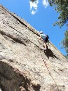 Rock Climbing Photo: Jaclyn on her 2nd lead.