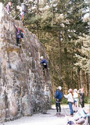 Group climbing at Spire Rock