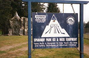 Sign at Spire Rock