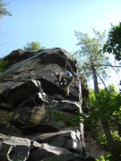 Rock Climbing Photo: Rhoads on the direct.