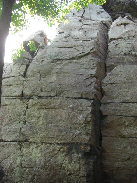 Rock Climbing Photo: The top.  Good in-cut edges all the way up the fac...