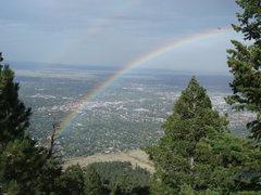 Rock Climbing Photo: Rainbows over Chautauqua