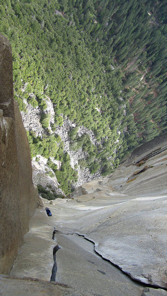 Changing Corners.  Best pitch of free climbing in the valley.