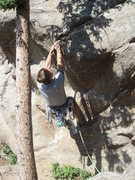 Rock Climbing Photo: The start with the bolt that is clip-able from the...