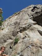 Rock Climbing Photo: Fun upper part... steep enough to be interesting b...