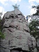 Rock Climbing Photo: Hefty run-out.