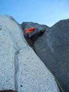 Rock Climbing Photo: Ryan on crux 4th pitch