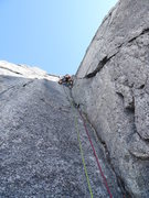 Rock Climbing Photo: Gabe on pitch 7