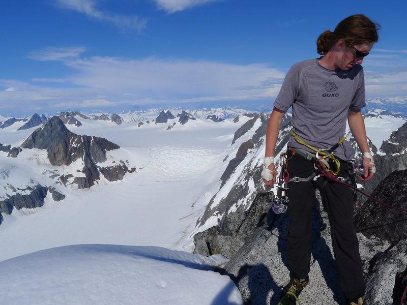 Rock Climbing Photo: Gabe on the summit