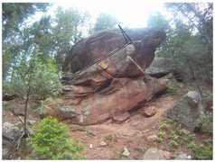 Rock Climbing Photo: The Annex Boulder. Hot Rod on the left and Annex o...