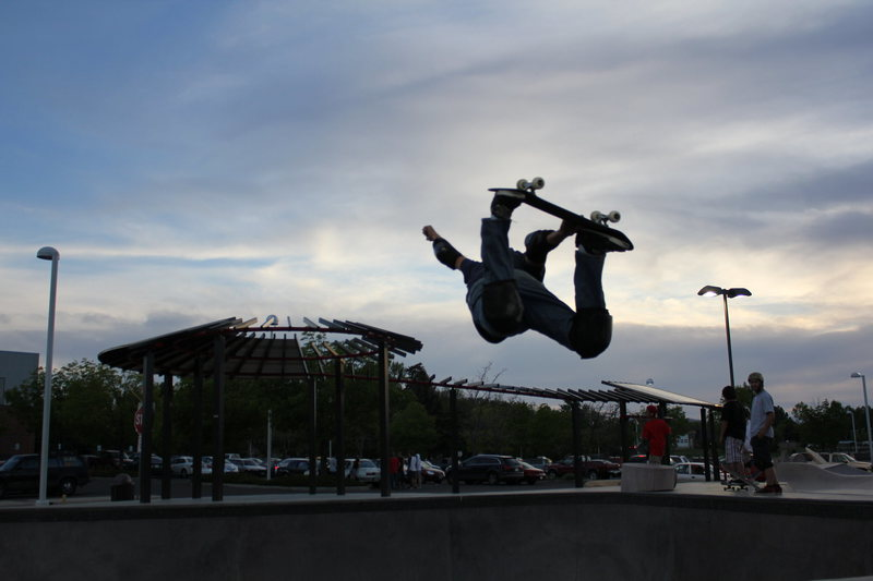 Rock Climbing Photo: backside air/not climbing @ skatepark in Lafayette...