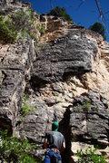 Rock Climbing Photo: Climbers warming up on Beggar's Banquet.