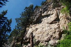 Rock Climbing Photo: A shot of the Glamrock Wall. In this photo you can...
