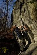 Rock Climbing Photo: Hidden Boulder about 50 yards behind dirty crack b...