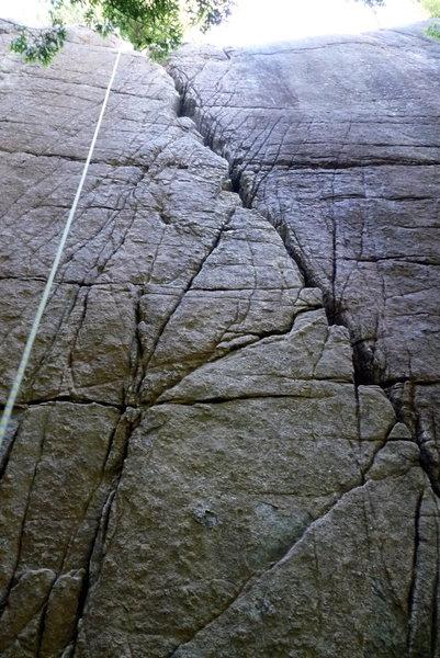 Rock Climbing Photo: 3.2; the obvious crack ...