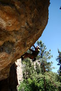 Rock Climbing Photo: The opening moves are a bit painful, hence the nam...
