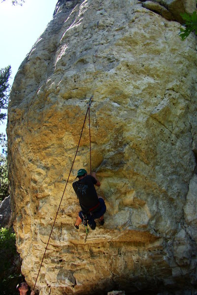 Rock Climbing Photo: A view of Screaming Sphincter.