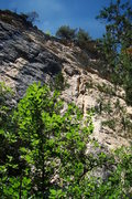 Rock Climbing Photo: From left to right, a not so good view of Blockbus...