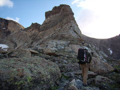 Rock Climbing Photo: Bill Duncan heading for the Crescent Ridge.  July ...