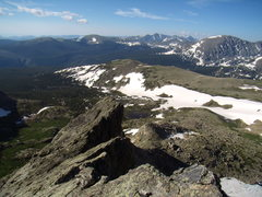Rock Climbing Photo: Looking back into Wild Basin from the Crescent Rid...