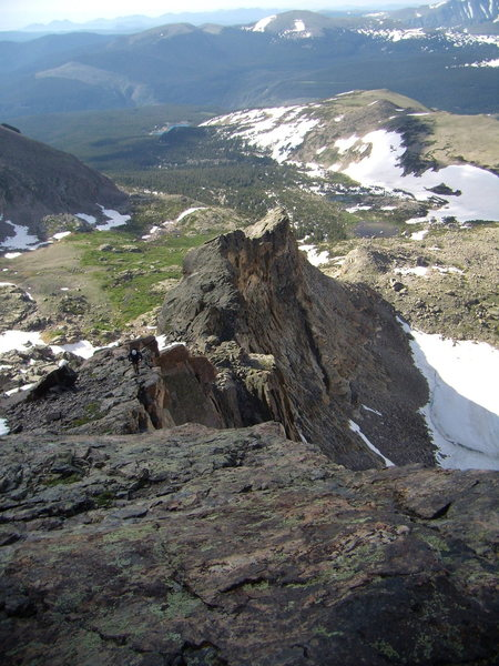 Rock Climbing Photo: Crescent Ridge on Pagoda. RMNP. July 14th 2011