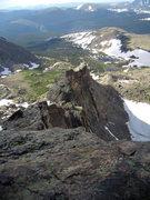 Rock Climbing Photo: Crescent Ridge on Pagoda. RMNP. July 14th 2011