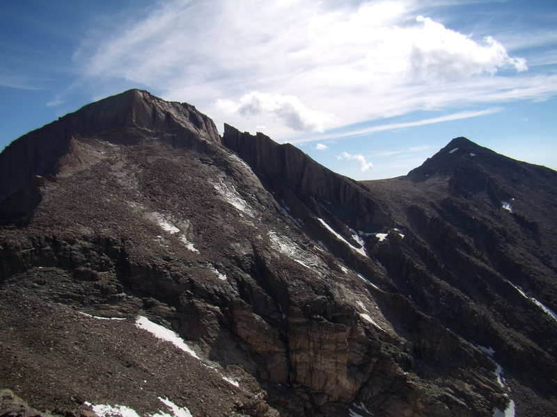 Rock Climbing Photo: Long's Peak and Mt. Meeker from the Crescent Ridge...