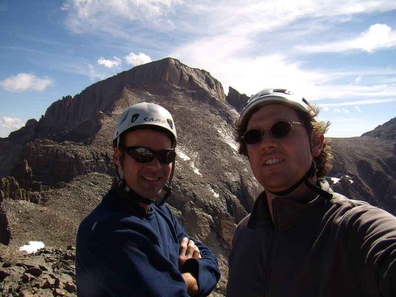 Bill Duncan and I.  Crescent Ridge on Pagoda. RMNP. July 14th 2011