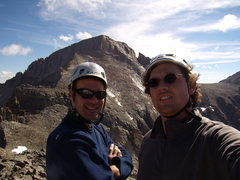Rock Climbing Photo: Bill Duncan and I.  Crescent Ridge on Pagoda. RMNP...