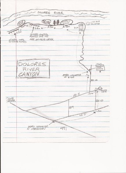 Dolores Canyon map.