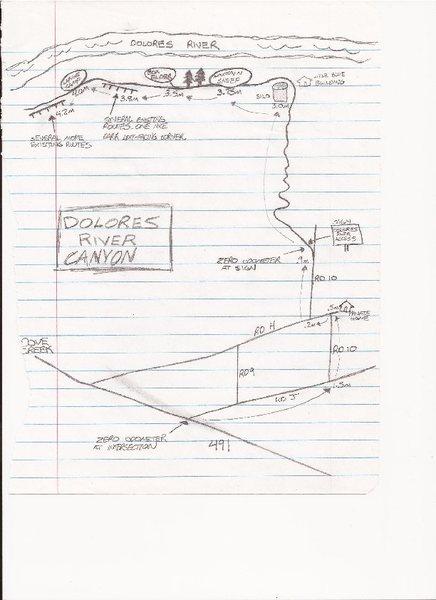 Rock Climbing Photo: Dolores Canyon map.