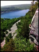 Rock Climbing Photo: Kyle Kompas getting high on mary jane.