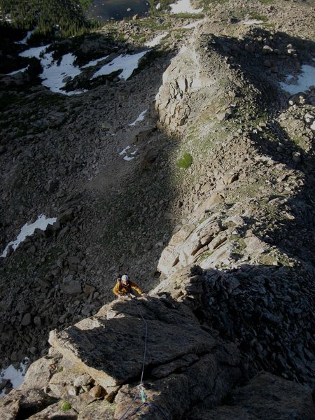 Rock Climbing Photo: Looking down the ridge at Alan Ream, from the top ...